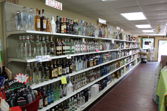 Park Liquors - Rum Gin and Vodka Sections